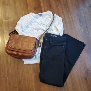 Gap Long and Lean Black Jeans
